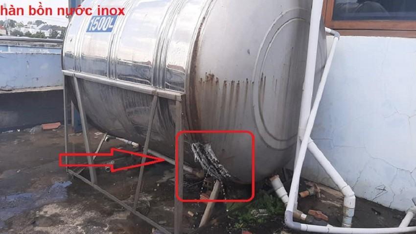 Hàn bồn nước inox