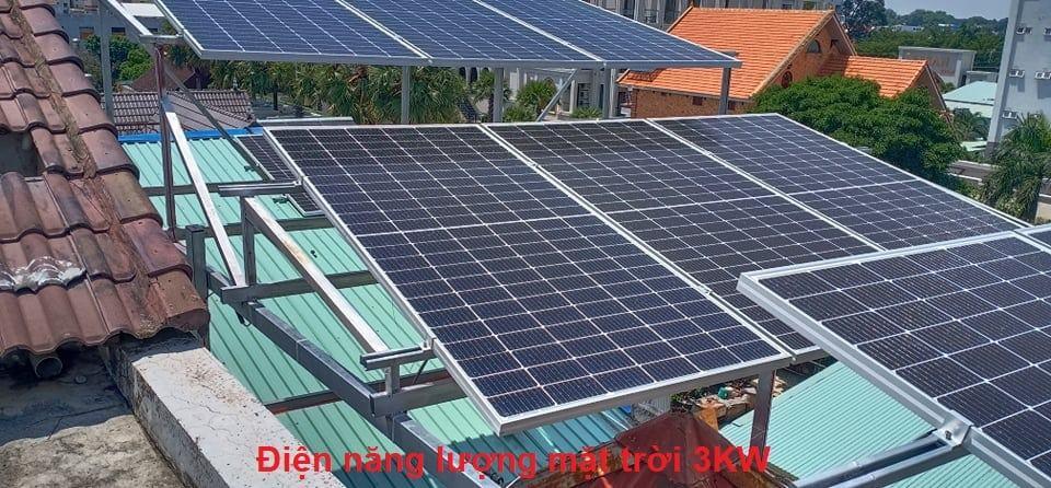 Lắp đặt hệ thống điện năng lượng mặt trời 3KW
