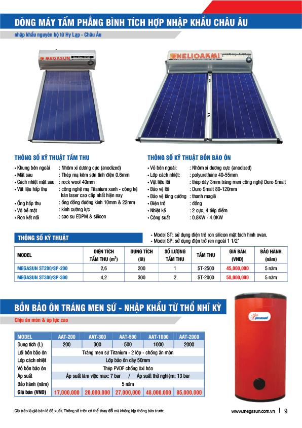 Năng lượng mặt trời Megasun tấm phẳng